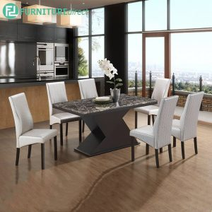 SENZION marble dining set 6 seater set