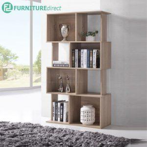 BARDON flexibility bookcase display rack divider-oak
