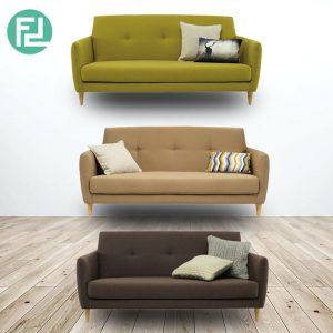 BAXTON 3 seater scandinavian fabric sofa- 3 colors
