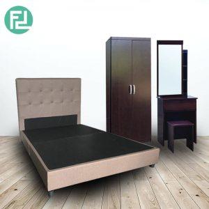 BEKKER queen size bedroom set-Brown