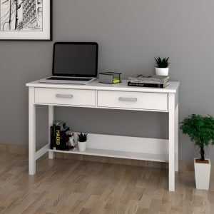 CARREN 4ft study desk console table-white