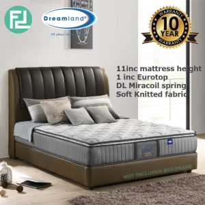 DREAMLAND Chiro Essential 2 Miracoil 11' king size spring mattress