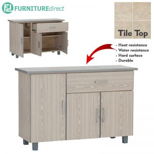 FRED 2.5 Feet tile top low kitchen cabinet series