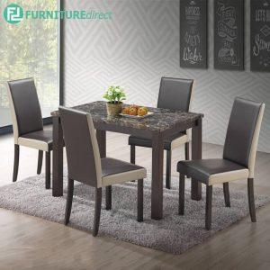 GORDON marble dining set 4 seater set