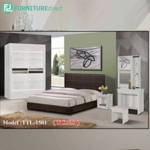 JASPER 5 piece queen size bedroom set-white