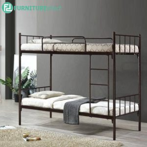 MARSON single size wire mesh base double decker bunk bed kids bunk bed-Copper