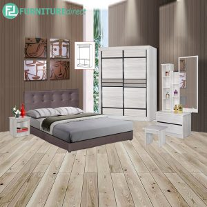 MATHAL piece queen size bedroom set-white