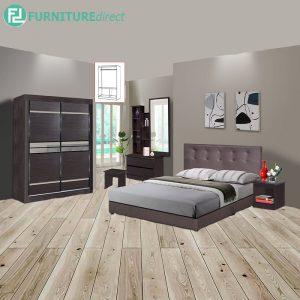 STONEMA piece queen size bedroom set-wenge