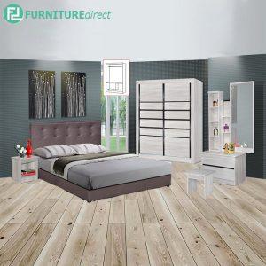 CHARDRA piece queen size bedroom set-white