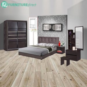 CHARDRA piece queen size bedroom set-wenge