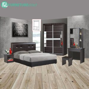 WESTTA 5 piece queen size bedroom set-wenge