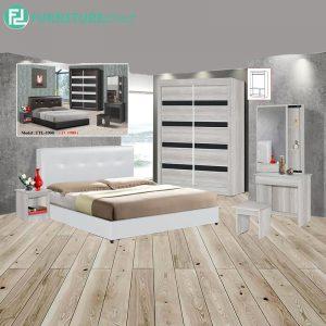 AUXTROY piece queen size bedroom set-white