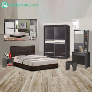 EUPORT piece queen size bedroom set-wenge