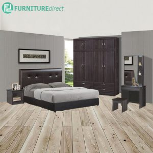 BOTMOND piece queen size bedroom set-wenge