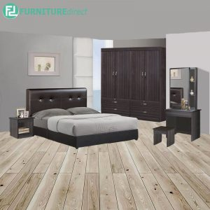 LEINLU piece queen size bedroom set-wenge