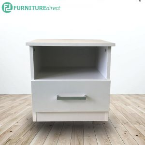 [CLEARANCE] LIBERTY 1 drawer bedside table-white