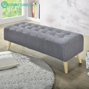 LINDA 4 feet fabric bench chair-light grey