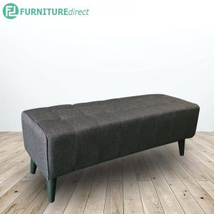 LINDA 4 feet fabric bench chair-grey