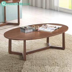 PELMIT oval coffee table-walnut