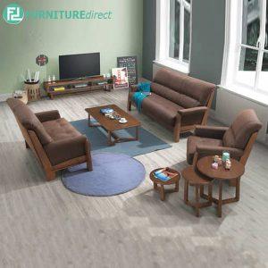 LAUPRISE sofa set-walnut-brown