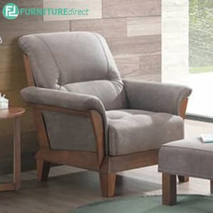 PARLARBIG 1 seater sofa-walnut-grey