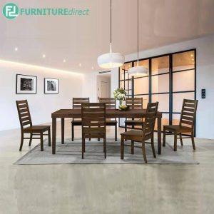 CHARLESWSTON dining set 8 seater set-walnut