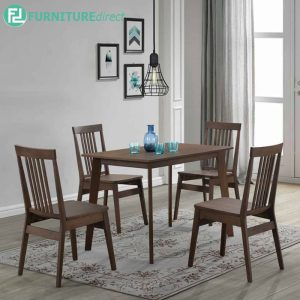 WHABARRE dining set 4 seater set-walnut