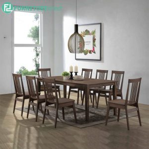 WHABARRE dining set 8 seater set-walnut