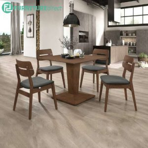 QUALON dining set 6 seater set-walnut