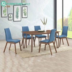 COEPHIN dining set 6 seater set-walnut