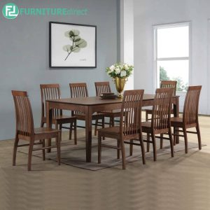 ESTESNE dining set 8 seater set-walnut