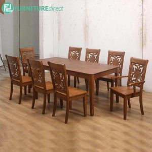 TIONWIT dining set 8 seater set-walnut