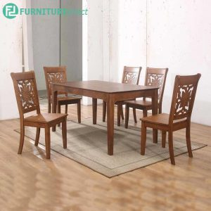 TIONWIT dining set 6 seater set-walnut