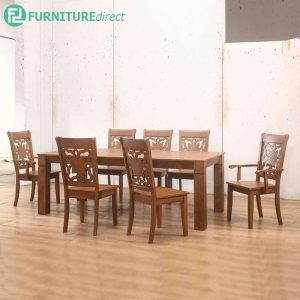 BERTFINHEAD dining set 8 seater set-walnut