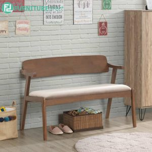 EURAYSTONE 2 seater bench-walnut