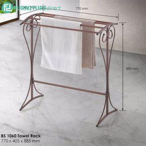 BENNIS BS1060 antique wrought iron metal towel rack