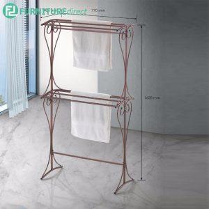 BENNIS BS1061 double layer antique wrought iron metal towel rack