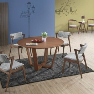 GIGRANGE dining set 6 seater set-walnut