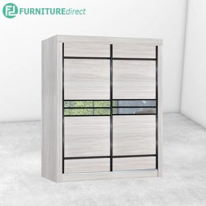 2809 sliding wardrobe with mirror - Natural