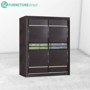 2810 sliding wardrobe with mirror - Cappuccino