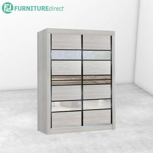 2609 sliding wardrobe with mirror - Natural