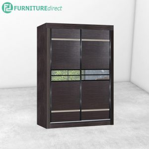 2916 sliding wardrobe with mirror - Cappuccino