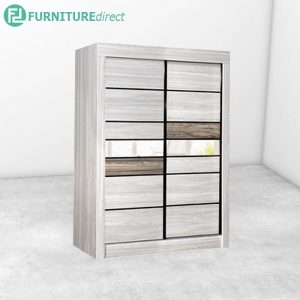 2917 sliding wardrobe with mirror - Natural