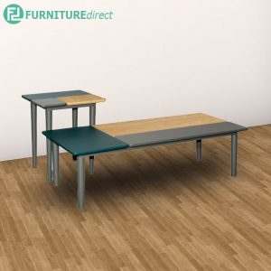 PATCHY coffee table + end table full solid rubberwood