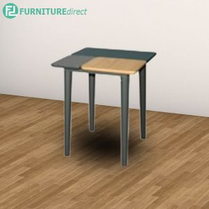 PATCHY end table full solid rubberwood