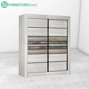 2813 sliding wardrobe with mirror - Natural