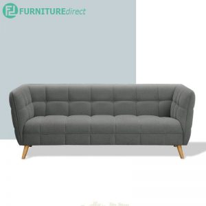 BASQUE scandinavian 3 seater fabric sofa- 3 colors