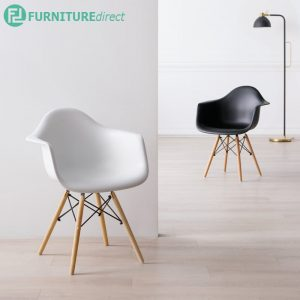 EAMES chair with arm- black & white color