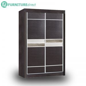 2502 sliding door 4 feet wardrobe - Cappuccino