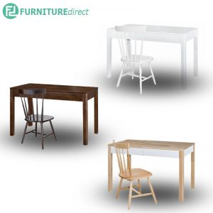 PADINI 4 feet full solid rubberwood study desk with chair